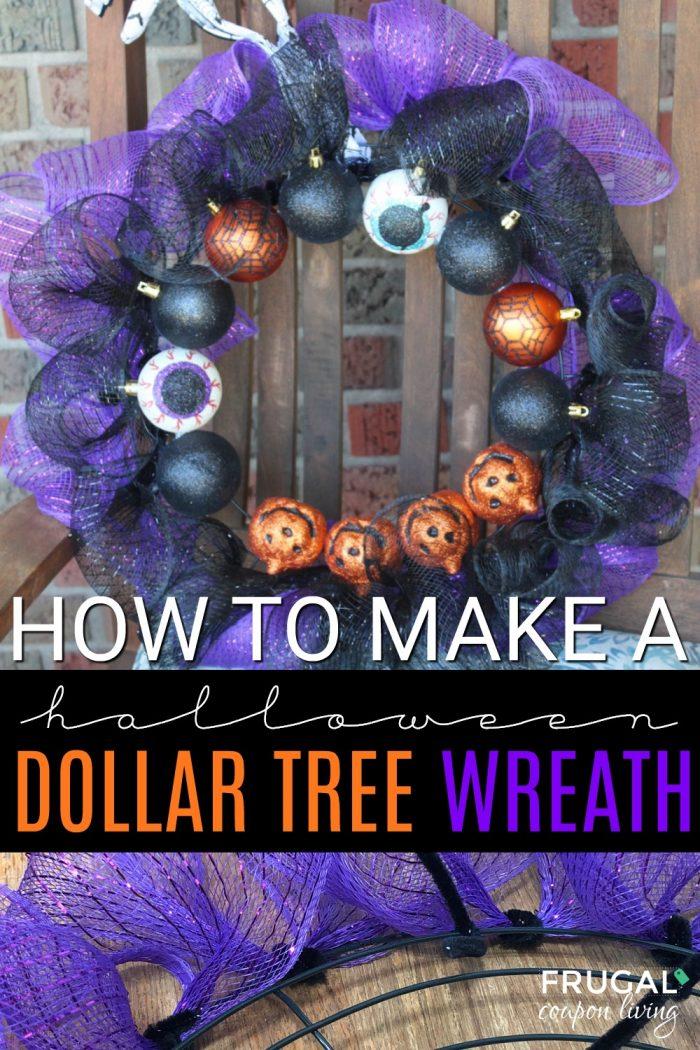 Outdoor Decor Halloween Dollar Tree Wreath Tutorial